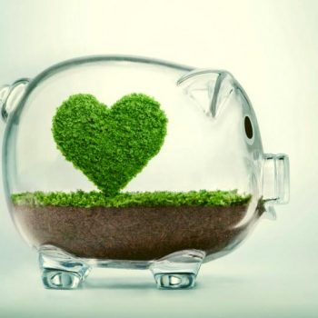 piggy bank with a heart