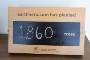 Sign with 1860 trees planted