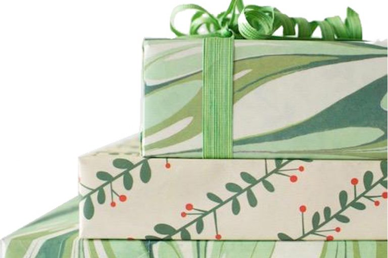 Beautiful Sustainably Wrapped Christmas Presents